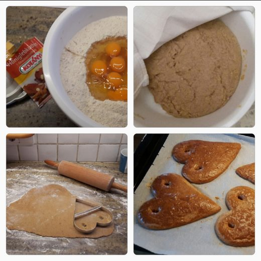 Lebkuchenteig backen